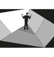 man in the corner vector image vector image