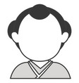man japanese avatar character vector image vector image