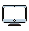 monitor screen technology with electronic vector image vector image
