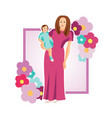 mothers day for card vector image