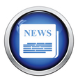Newspaper icon vector image vector image