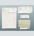 paper message notes on clips vector image vector image