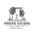 photo studio label isolated on white background vector image