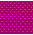 Pink and purple heart textile seamless pattern vector image vector image