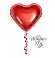 red balloon heart isolated on white background vector image vector image