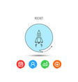 rocket icon startup business sign vector image