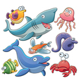 Sea animals collection vector | Price: 5 Credits (USD $5)