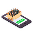 set managers in a box isolated vector image vector image