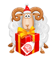 Sheep Christmas vector image