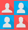 silhouettes of men and women on different colored vector image vector image