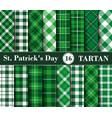 sixteen set tartan seamless patterns st vector image vector image