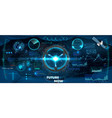 spaceship control panel dashboard in hud style vector image vector image