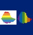 spectrum pixel dotted ethiopia map vector image vector image