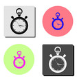 stopwatch flat icon vector image vector image