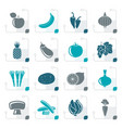 stylized different kind of fruit and vegetables vector image vector image