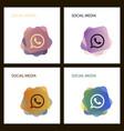 telephone icon whatsapp logo symbol phone vector image