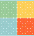 tile summer pattern set with white polka dots vector image