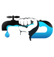 water tap and hand service vector image vector image