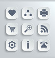 Web icons set - white app buttons vector image vector image