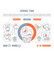 website banner and landing page spring time vector image vector image