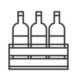 wine bottles simple food icon in trendy style vector image