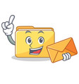 with envelope folder character cartoon style vector image