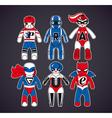 Toy superheroes vector image