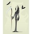 Grim reaper cartoon character vector image