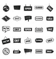 signboards with text design elements icons set in vector image