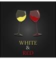 Wine menu two glasses design background vector image