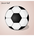 Soccer ball isolated on a pink background Simple vector image