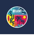 Surf - Miami - concept vector image