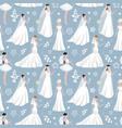 wedding bride girl character seamless pattern vector image