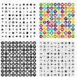 100 dessert icons set variant vector image