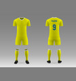 3d realistic template soccer kit vector image