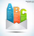 ABC Bars Mail vector image vector image