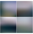 Abstract editable blurred backgrounds set vector image vector image