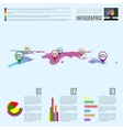 Abstract Map Infographic vector image