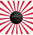 abstract of simple red sunburst background vector image vector image