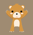 bearbrown vector image