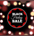 black friday sale poster in realistic style vector image