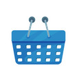 Blue shopping basket plastic container for vector image