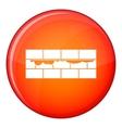 Brick wall icon flat style vector image vector image