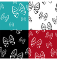 butterfly pattern set vector image vector image