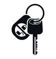 Car Alarm and Key Icon vector image