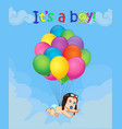 cartoon with newborn baby falling down with vector image vector image