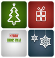 Christmas decoration card made from white paper vector image vector image