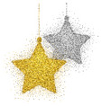 christmas decoration with sparkling light effect vector image vector image