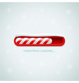 christmas loading red christmas candy cane style vector image vector image