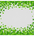 clovers frame isolated transparent background vector image vector image
